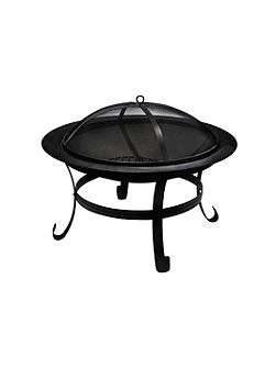 Black steel firepit