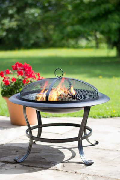 La Hacienda Black steel firepit