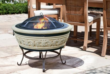 La Hacienda Medium carved stone effect firebowl