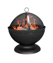 La Hacienda Deep black firepit with grill