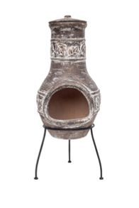La Hacienda Leaf design clay chimenea