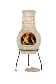 La Hacienda Star Flower Clay Chimenea