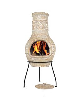 Star Flower Clay Chimenea