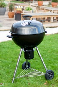 La Hacienda 54cm black kettle BBQ