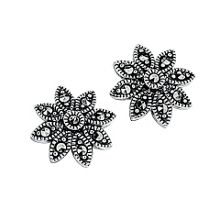 Elements Silver Daisy stud earrings