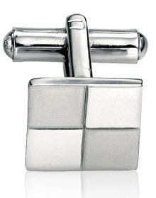Fred Bennett Steel brushed & polished cufflinks