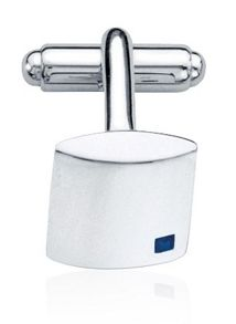 Fred Bennett Square cufflinks with blue sapphire