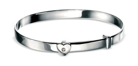 D for Diamond B773 childrens bangle