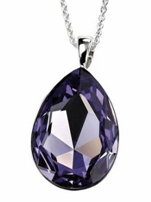 Teardrop tanzanite coloured pendant