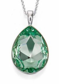 Chrysolite drop pendant