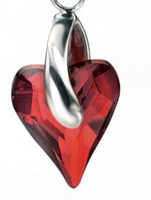 Red magma heart earring