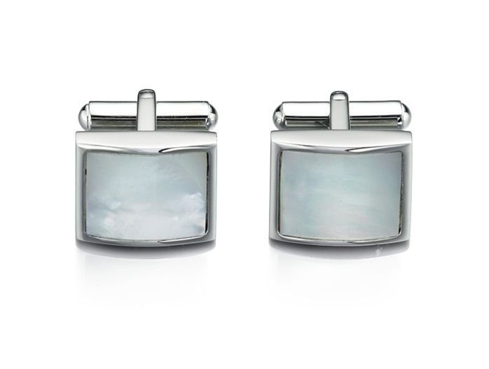 fred bennett stainless steel mother of pearl cufflink