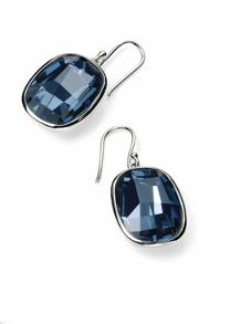 Graphic stone earring