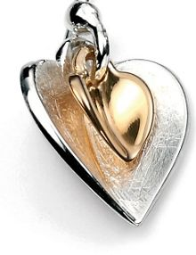Elements Silver Double heart earring