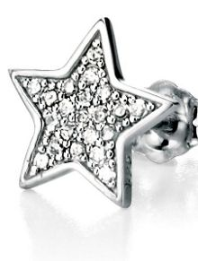 Pave star earrings