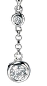 Double bubble earring with cz