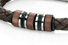 Brown leather woven bracelet