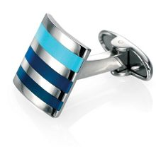 Striped enamel cufflinks