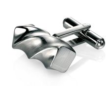 Fred Bennett Stainless steel twist cufflinks