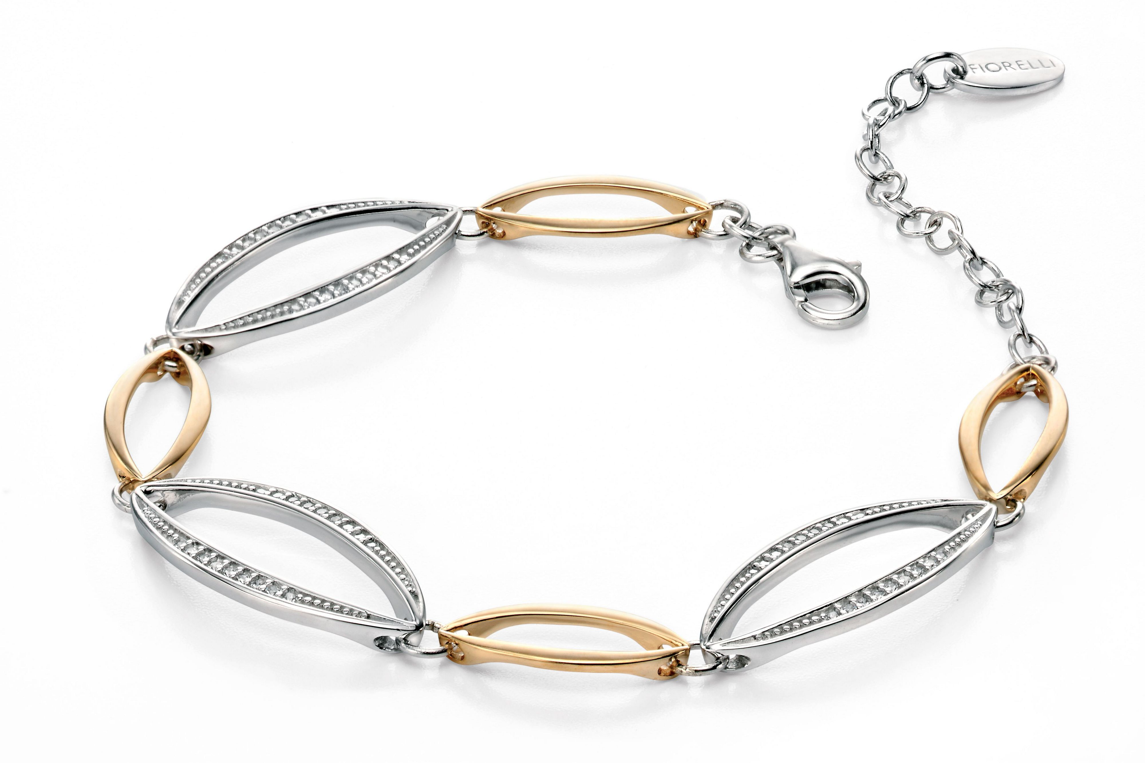 Silver and gold marquise bracelet