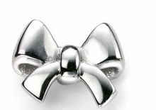 Plain silver bow studs