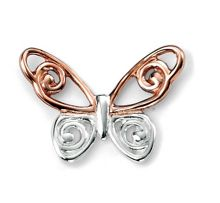 butterfly studs with rose gold plated detail