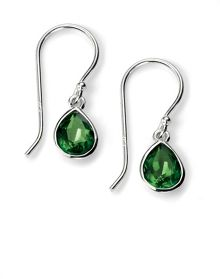 Fern green pear shape earring