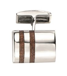 Fred Bennett Silver cufflinks with wood inlay