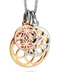 3 tri gold cut-out geometric pendants