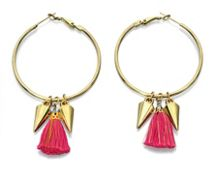 Hoops with spikes and tassels