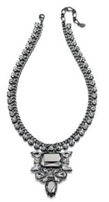 Statement necklace with crystal cluster