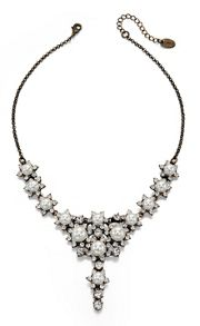 Pearl & Crystal Flower Cluster Necklace