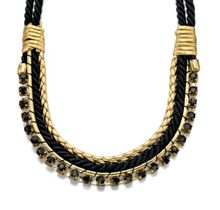 Black & Gold Rope Necklace