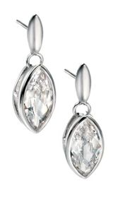 Clear marquise cubic zirconia earrings