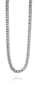 Stainless Steel Flat Link Necklace