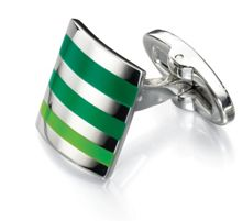 GREEN SHADES STRIPE CUFFLINKS