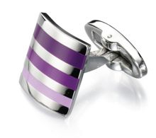 PURPLE SHADES STRIPE CUFFLINK