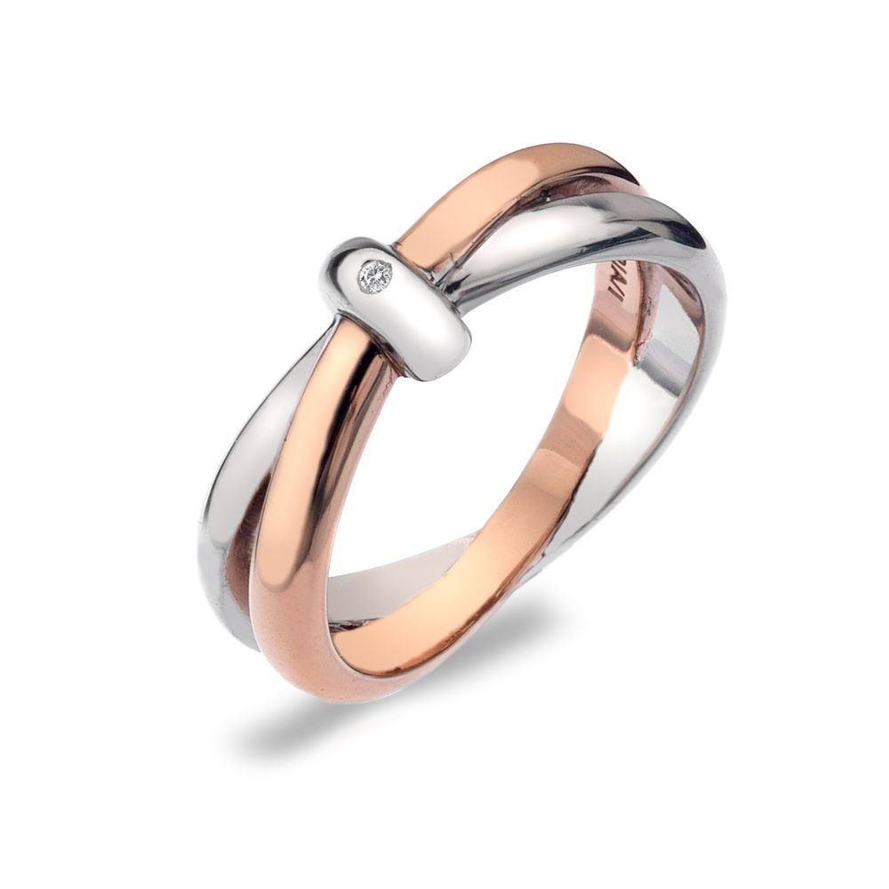 hot diamonds eternity interlocking ring