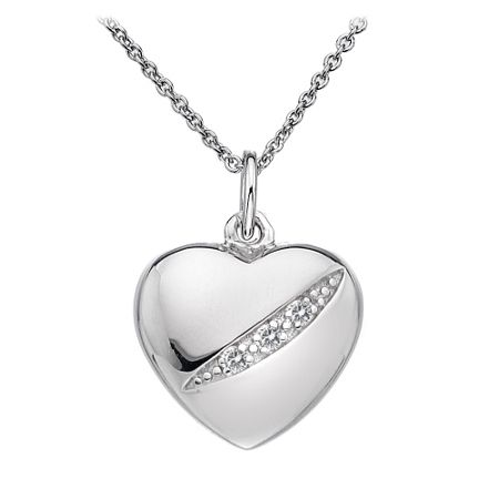 Hot Diamonds Shooting stars heart necklace