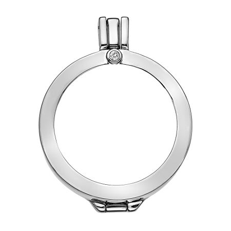 Emozioni silver coin keeper 33mm necklace