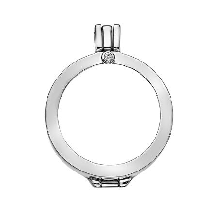 Emozioni silver coin keeper 25mm necklace