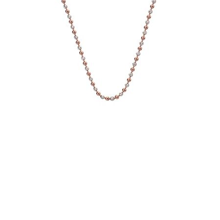 Emozioni Silver and rose gold chain necklace