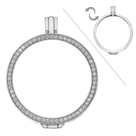Emozioni silver reversible keeper 33mm necklace
