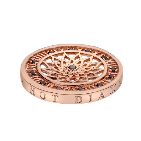 Emozioni 25mm time traveller rose gold coin