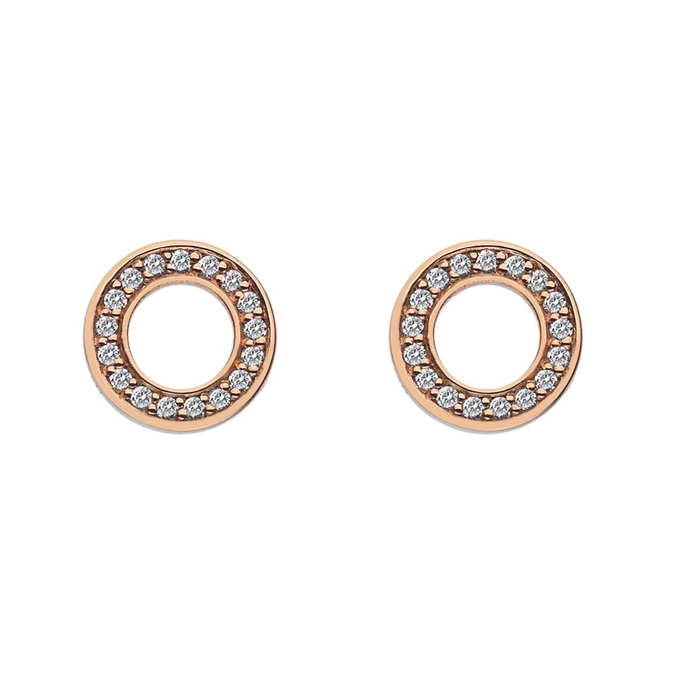 Emozioni Emozioni rose gold plated stud earrings, N/A