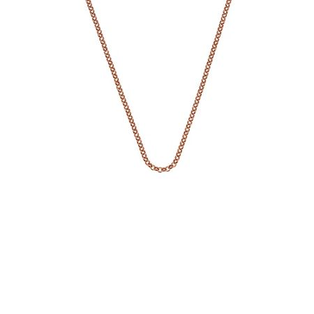 Emozioni rose gold silver chain necklace