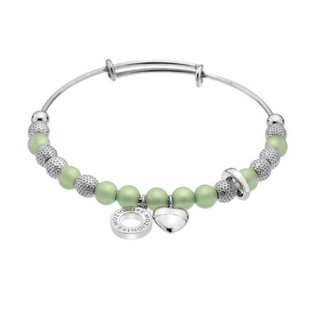 Emozioni silver plated greeen bangle