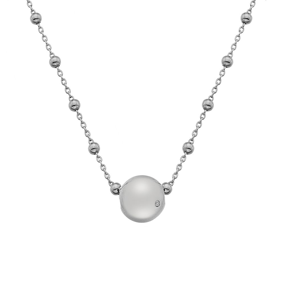 Image of Hot Diamonds Orb Silver Necklace, N/A