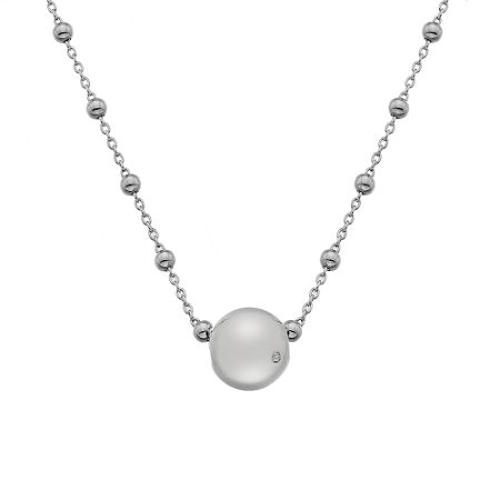 Hot Diamonds Orb Silver Necklace