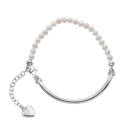 Hot Diamonds Silver & mother of pearl bracelet